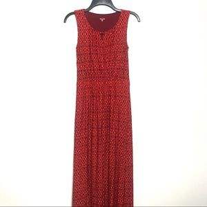 Garnet Hill | Red Crossover Knit Maxi Size XS